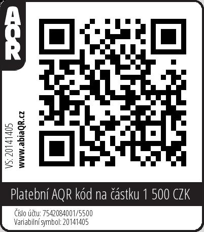 Platební AQR kód